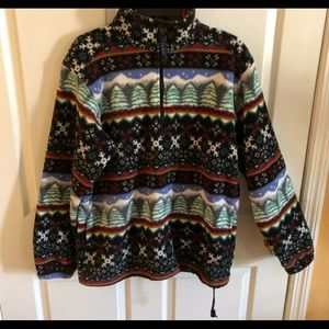 LL BEAN pullover jacket size m